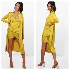 Isla Slinky Wrap Drape Dress & Duster Co-ord
